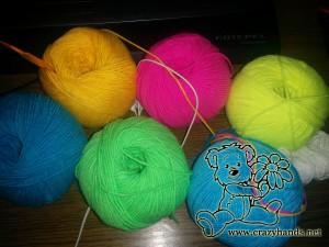 cotton acrylic threads to crochet a bunny