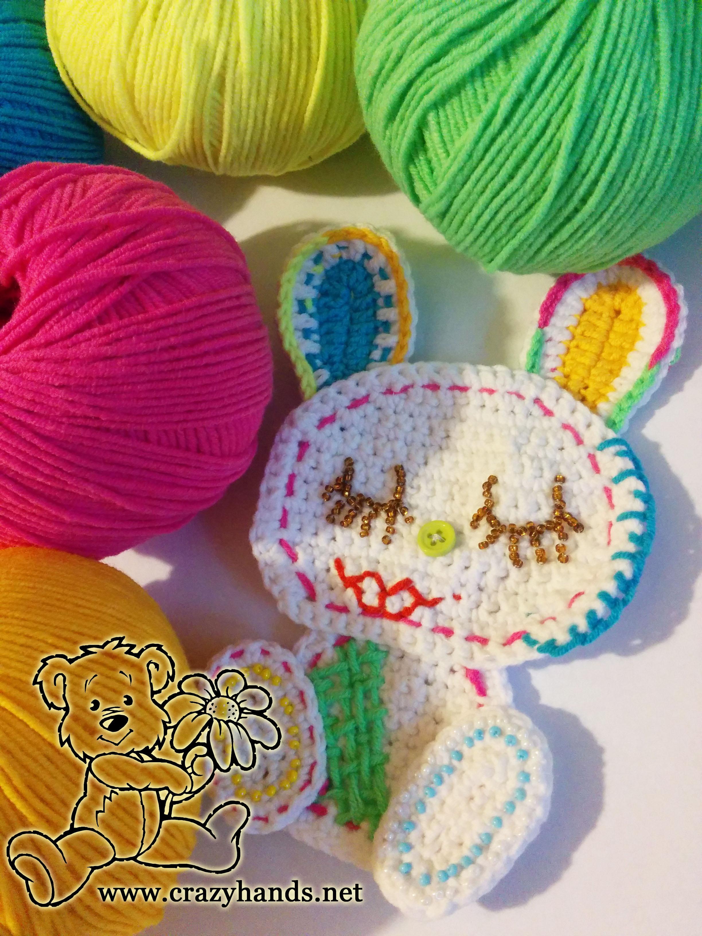 crochet rabbit applique