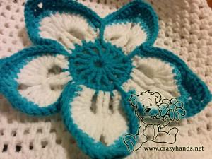 baby crochet flower hat