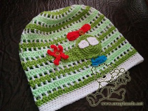 crochet boys hat with helicopter