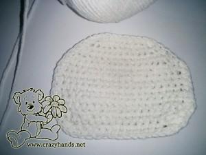 crochet bunny pattern: head, step #3