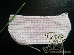 crochet baby bib pattern: body, step #2