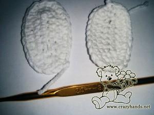 crochet bunny pattern: legs