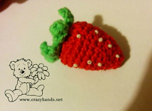 Crochet Strawberry Pattern for Rainbow Cardigan