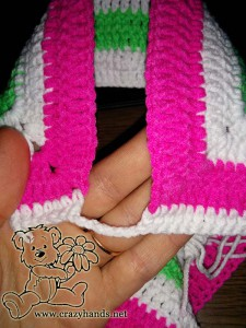 rainbow cardigan - crochet the yoke