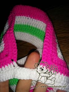 finish crochet the yoke of rainbow cardigan pattern
