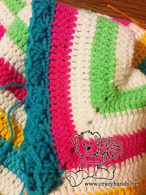 Crochet rainbow cardigan (part one)