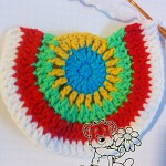 crochet rainbow cardigan pattern: crochet the pocket - step #5