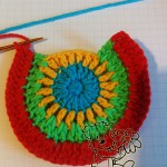 crochet rainbow cardigan pattern: crochet the pocket - step #4