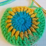 crochet rainbow cardigan pattern: crochet the pocket - step #3