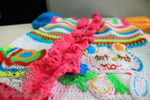 baby rainbow crochet cardigan