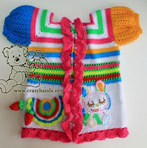 crochet rainbow cardigan for babies