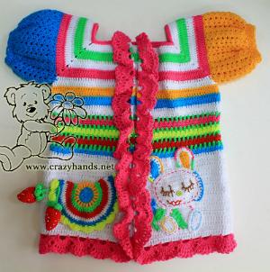 Crochet rainbow cardigan (part two)