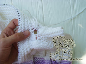Baby Knit Romper Pattern: Stitching up holes on the back part