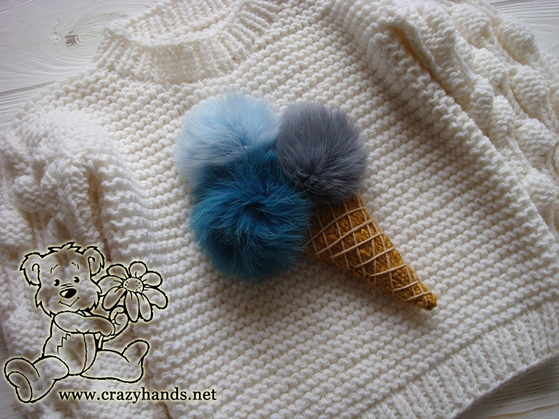 knit ice cream on the oversized knit sweater - photo 3