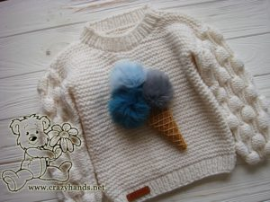 knit ice cream on the oversized knit sweater - photo 4