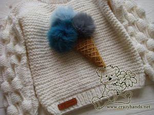 knit ice cream on the oversized knit sweater - photo 2