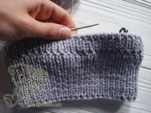 full ribbing of the baby hat knitting pattern