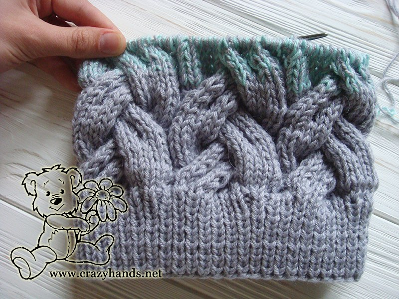 Adult Hat Knitting Pattern in Gradient Color · Crazy Hands Knitting
