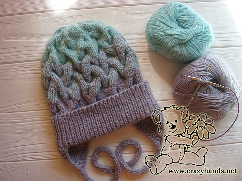 Baby Hat Knitting Pattern With Earflaps Gradient Crazy Hands