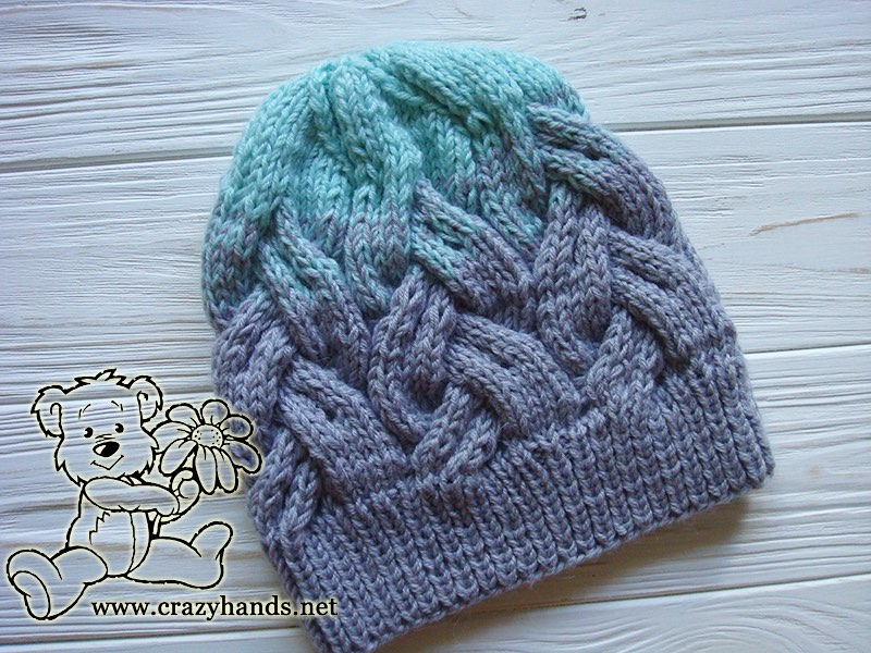 Adult Hat Knitting Pattern In Gradient Color Crazy Hands Knitting