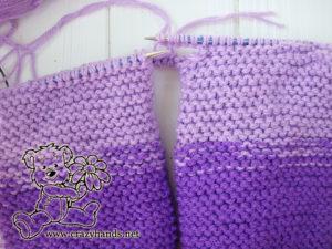 Baby Knit Romper Pattern: Body Knitting - Step 3