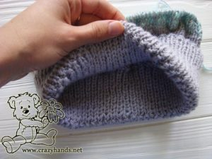 inside part of the baby knitted hat