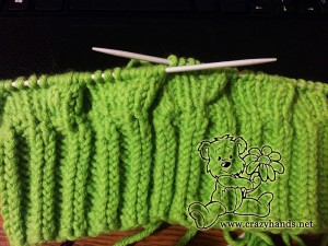 Knitting the body of the cable hat - step#2