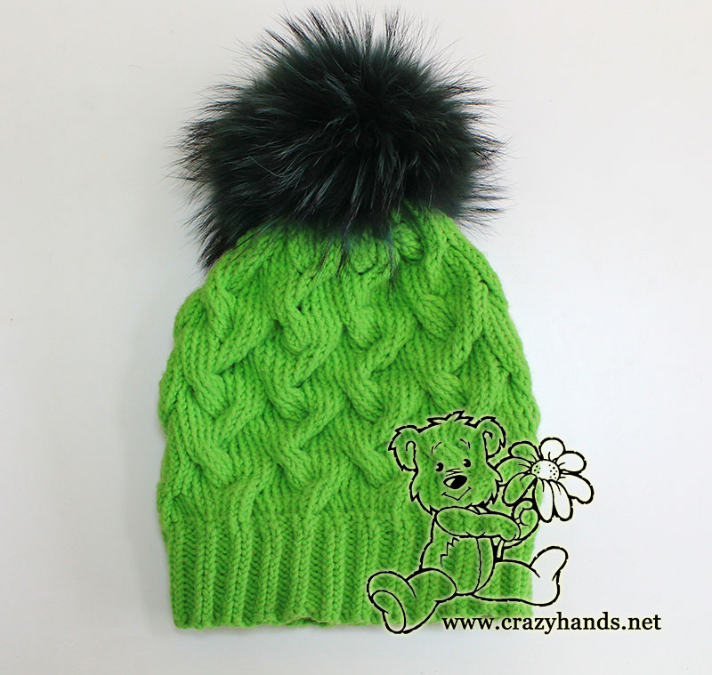 winter cable knit hat tutorial