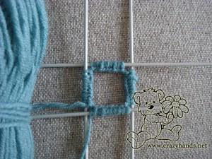 start the ribbing of fingerless gloves knitting pattern