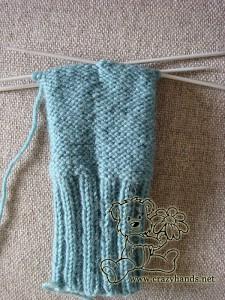 flat bottom of the fingerless gloves