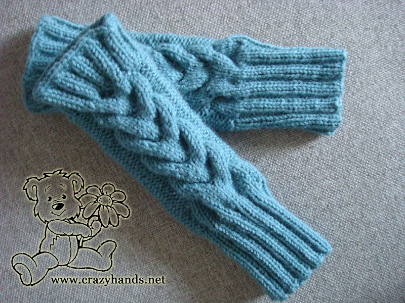Fingerless Gloves Knitting Pattern Crazy Hands Knitting