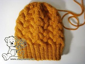 easy-to-knit knitted hat pattern with cables