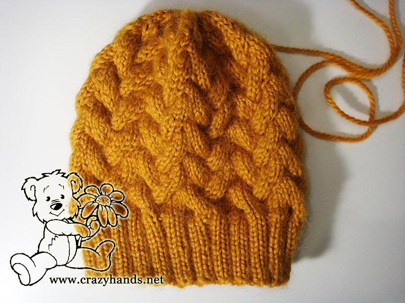 Sandy Cable Knitted Hat Pattern Crazy Hands Knitting Best Easy Knit Hat Pattern Circular Needles