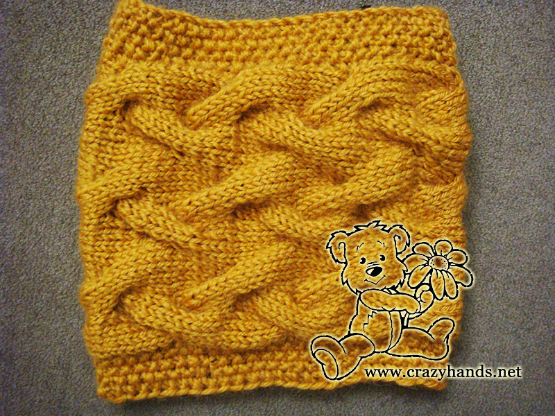 Sandy Cable Knit Cowl Pattern · Crazy Hands Knitting