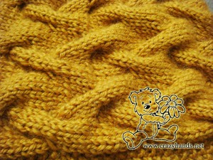 cable pattern of the knit cowl