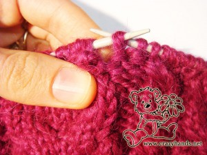 Begin knitting the round of decrease - step #3
