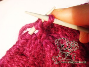 Begin knitting the round of decrease - step #6