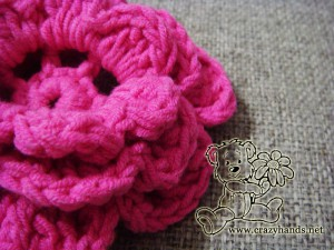 crochet flower for children's knit hat pattern