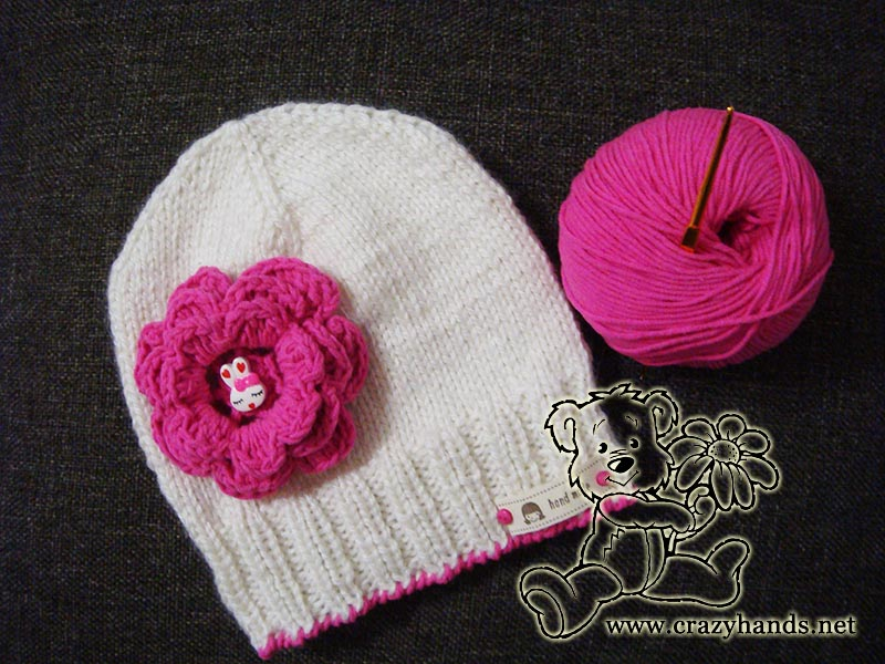 Spring children's knitted hat pattern