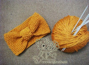 Seed Stitch Knitted Headband Pattern