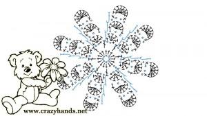 scheme of the crochet flower