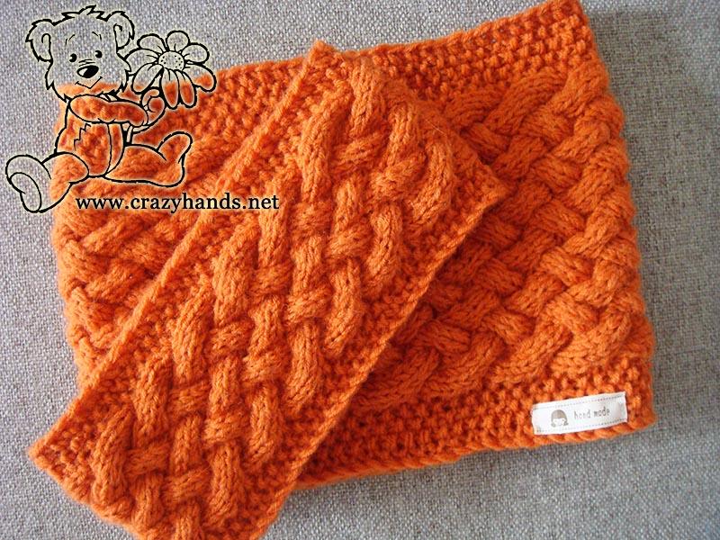 Wicker set: knit cowl pattern & knit headband pattern