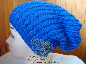 slouchy knit hat on the mannequin - side view #2