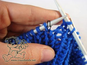 Fisherman's rib knitting stitch - step #1