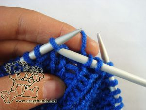 Fisherman's rib knitting stitch - step #2