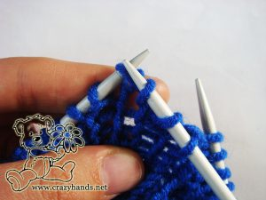Fisherman's rib knitting stitch - step #3