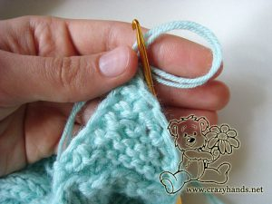 crochet the cords of the earflap baby hat pattern - step #1