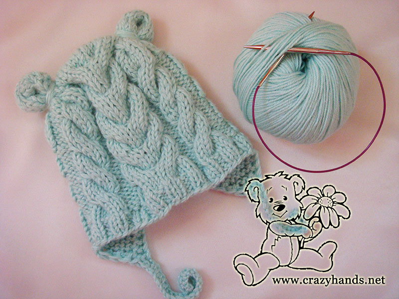 Earflap Baby Hat Knitting Pattern · Crazy Hands Knitting