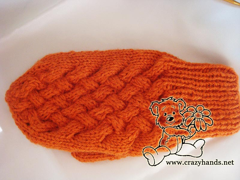Knitted Mitten Patterns Wicker Style By Crazy Hands Knitting